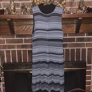Dresses & Skirts - A black and gray sweater dress XL